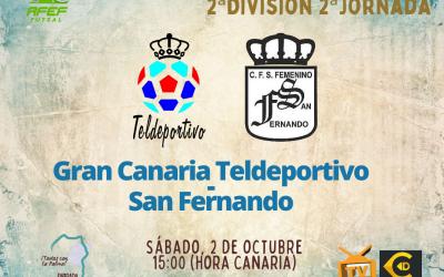 Debut en casa del Gran Canaria Teldeportivo ante el San Fernando